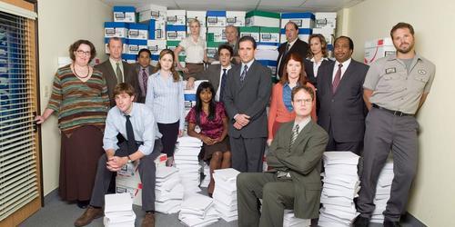 Retrato de vida em escritório